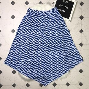 Chico's blue and white asymmetrical skirt size 1